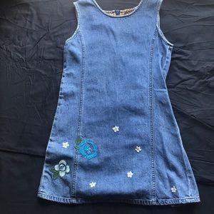 Gap kids denim jumper dress